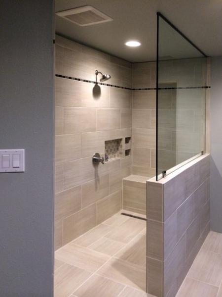 Open Shower Design
