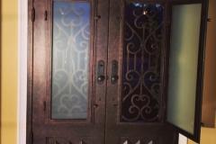 CAST IRON DOUBLE ENTRY DOOR