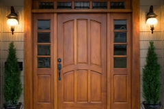wood door with sidelites